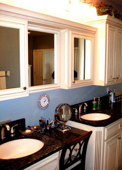 kitchen cabinet and countertop color schemes